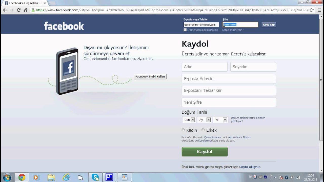 cep telefonundan facebook şifresi öğrenme