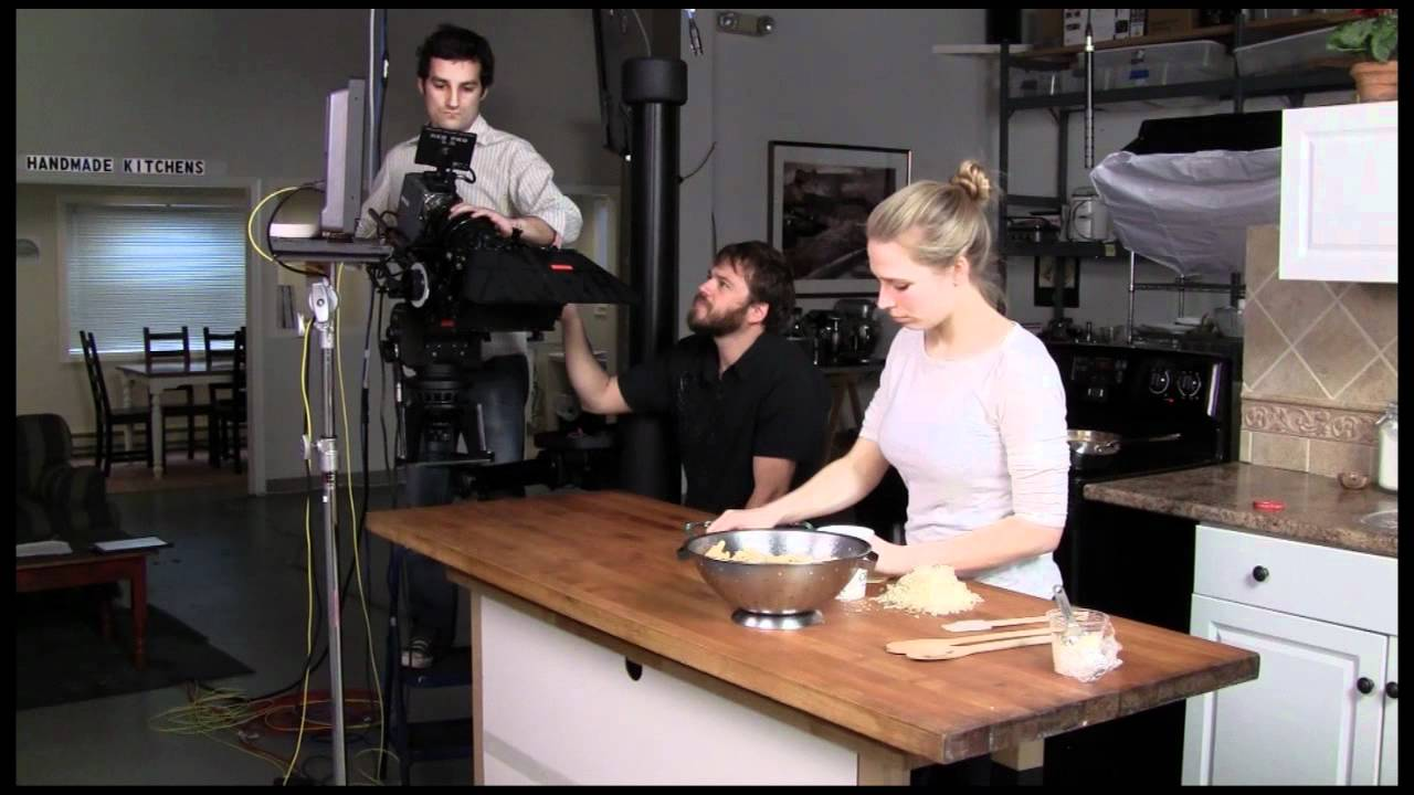 lighting a tv kitchen studio for making recipe videos & filming