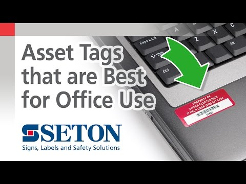 How to Select the Best Asset Tag for Office Use | Seton Video
