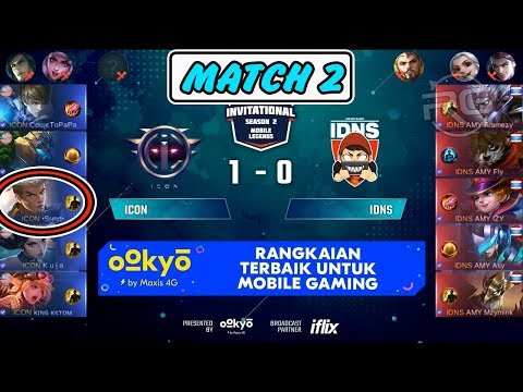 Chou Syno Damage ! Syno Mengganas ! ICON vs IDNS Match 2 MSL Season 2 MLBB