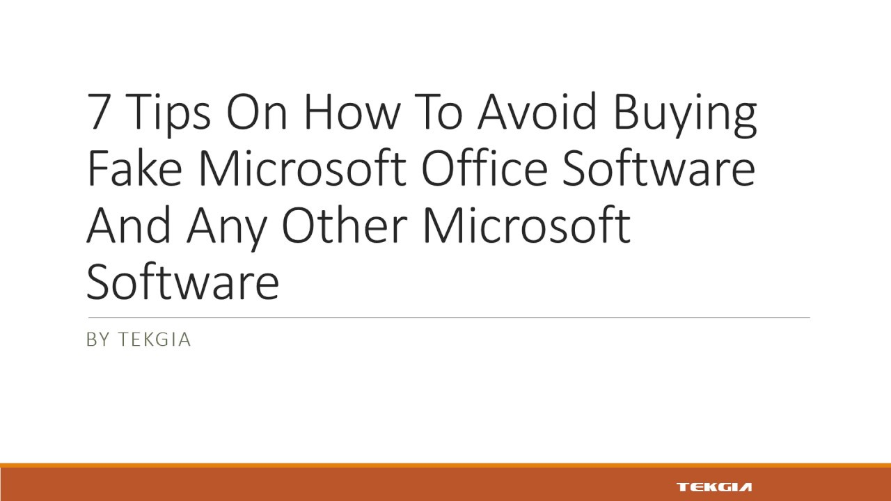 7 Tips on How To Avoid Buying Fake Microsoft Office Software
