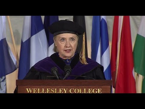Hillary Clinton Brings Up Nixon, Impeachment During Wellesley Speech
