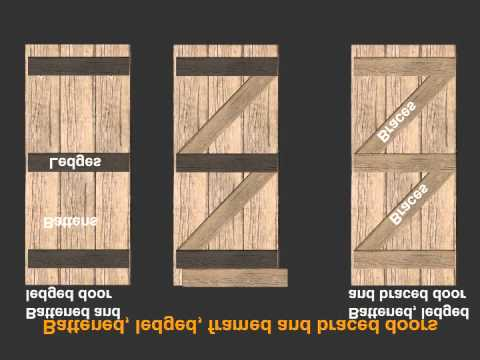 Battened and ledged door & Battened and ledged door - YouTube
