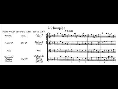 Händel - Hornpipe from Water Music I (score)