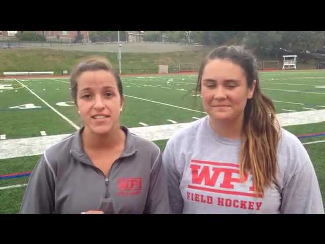 WPI Field Hockey Post-Game Interview - Lauren Puishys and Jena Mazzucco
