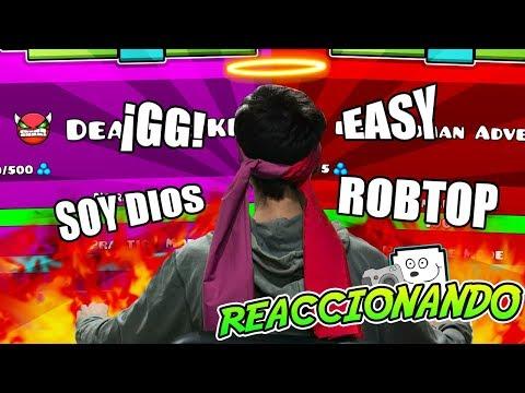 ¡REACCIONANDO AL JUGADOR DIOS MAS PRO INCREÍBLE DE GEOMETRY DASH!