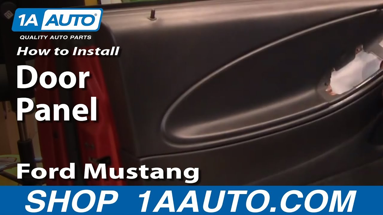 hight resolution of how to install replace door panel ford mustang 99 04 1aauto com