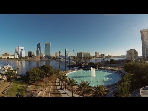 DJI Phantom 2 GoPro Black Zenmuse H3-2D Downtown Jacksonville Friendship Fountain