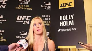 UFC 218 Media Day: Holly Holm talks Cris Cyborg and why she