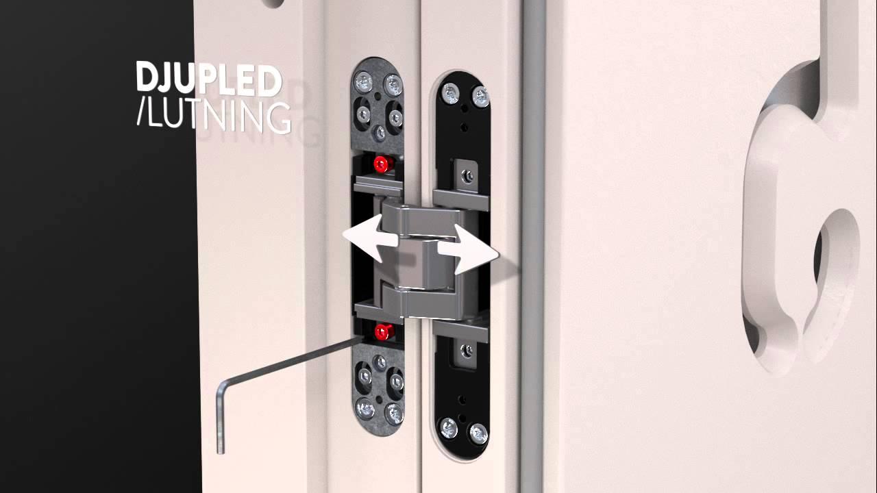 Justering av dörrar med infällda gångjärn - YouTube