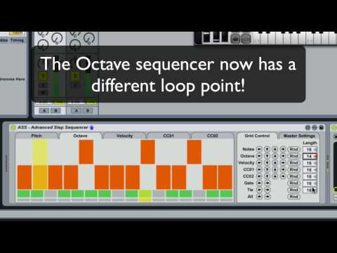 Advanced Step Sequencer - A Max For Live MIDI Step Sequencer
