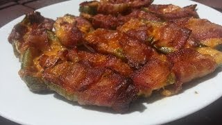 Jalapeno Poppers  - Easy To Make Bacon Wrapped Cheese Jalapenos