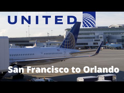 United Airlines UA234 San Francisco to Orlando Boeing 757-300