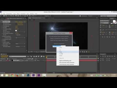 How to license optical flares in adobe after effects ofline / without any download