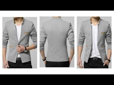 4T - Áo Khoác Nam Kaki Giả Vest Màu Xám Mã Số A8955