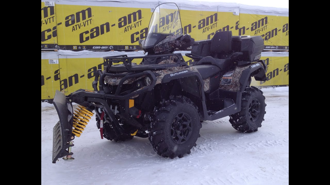 2013 Can-am 650 max Plow King