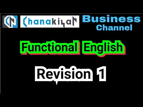 Functional English Revision - 1 - Learn English Through Tamil