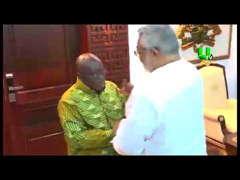 Fmr Prez. Jerry Rawlings besieges Flagstaff House with student