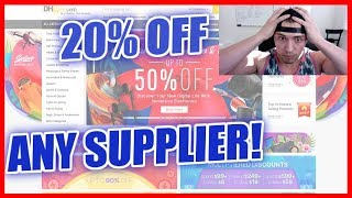 How To GET 20% + OFF Your Order From ANY SUPPLIER For Amazon Or Shopify!