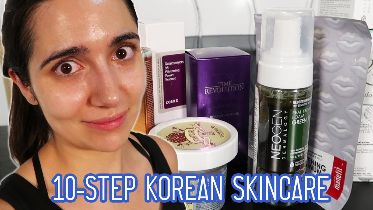 0ed4a5d472 I Tried A 10-Step Korean Skincare Routine For A Month - YouTube
