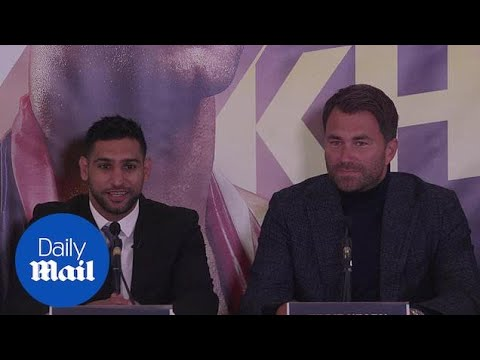 Amir Khan announces return to UK boxing with Eddie Hearn - Daily Mail