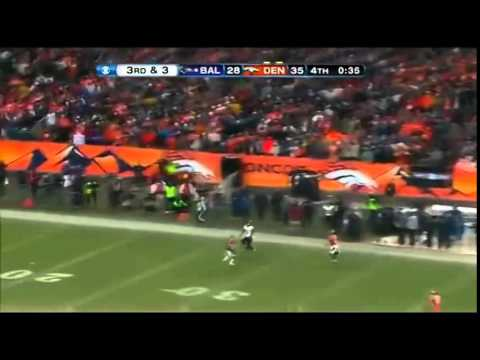 Baltimore Ravens vs Denver Broncos Joe Flacco Rocky Mountain Rainbow 2013 Playoffs