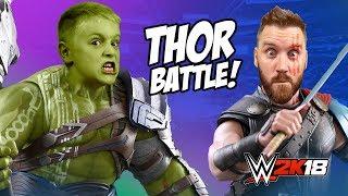 Thor vs Hulk! Thor Ragnarok WWE 2k18 Wrestling Battle by KIDCITY