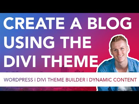 Create Blogposts And The Blogpage Using Divi 4.0