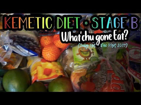 Kemetic Diet // Stage B // Grocery Haul - What'chu gone eat