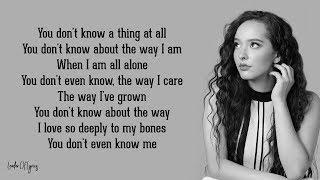 Faouzia - YOU DON'T EVEN KNOW ME (Lyrics)
