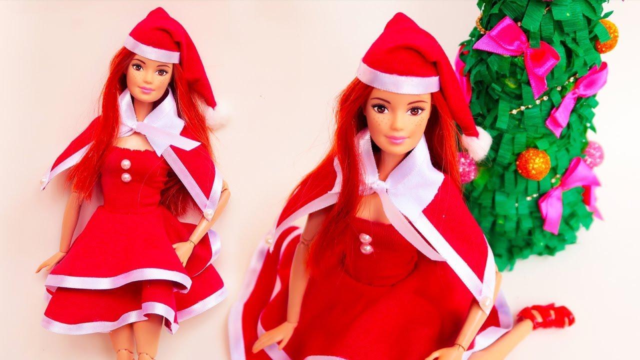 Roupa mam e noel para barbie monster high e outras bonecas tutorial de natal youtube - Monster high noel ...