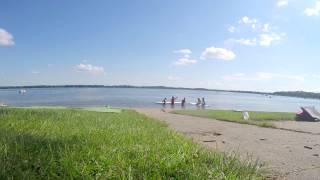Beautiful Beach on Minnesota Lake in July - Detroit Lake, Minnesota