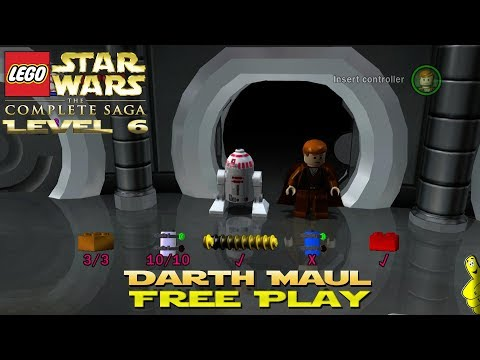 Lego Star Wars TCS: Ep 1 Chap 6 / Darth Maul FREE PLAY (All Collectibles) - HTG
