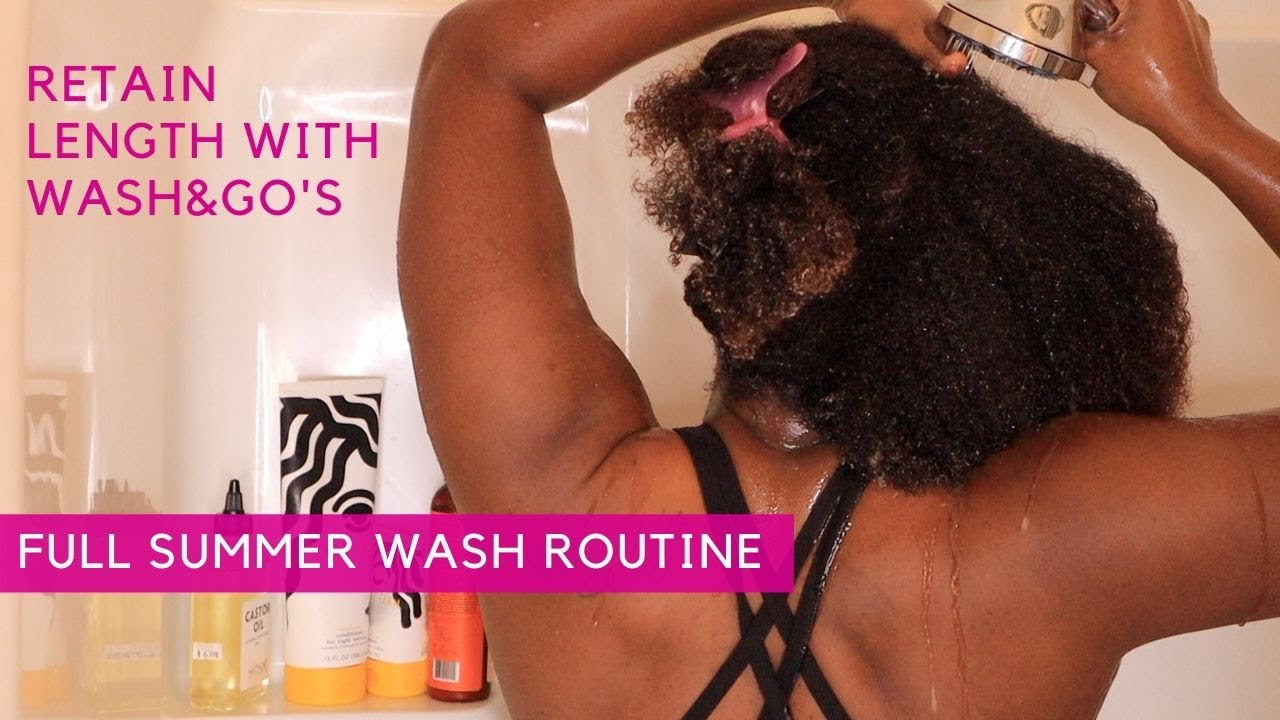 FULL Summer Wash Routine for Retaining Length With The Wash & Go | Type 4 Hair