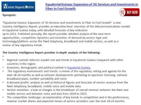 Equatorial Guinea Telecom Market Forecast