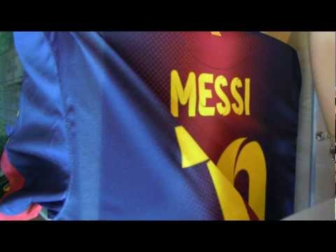 FC Barcelona personalised shirt Messi camiseta