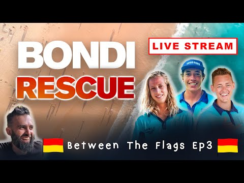 BETWEEN THE FLAGS - Ep3 (Bondi Rescue Live Stream Show) W  Maxi, Jethro And Noah
