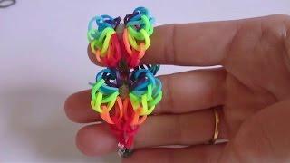 Браслет СЕРДЦЕ РАДУГИ, heart of the rainbow,  Радужки Rainbow Loom