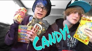 trying japanese candy   justin