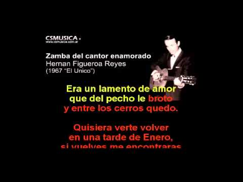 Folklore   Zamba del cantor enamorado   Karaoke