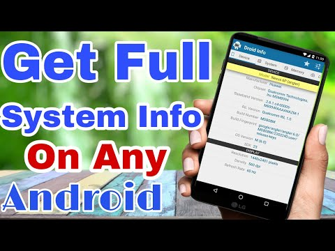 HOW TO GET SYSTEM INFO ON ANY ANDROID DEVICE