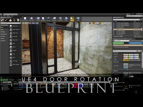 Create a Door Rotation Blueprint in Unreal Engine 4