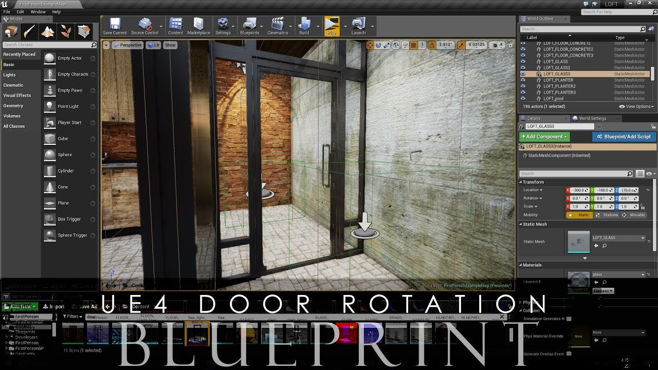 Unreal engine 4 door rotation blueprint with e key pressed youtube unreal engine 4 door rotation blueprint with e key pressed malvernweather Images