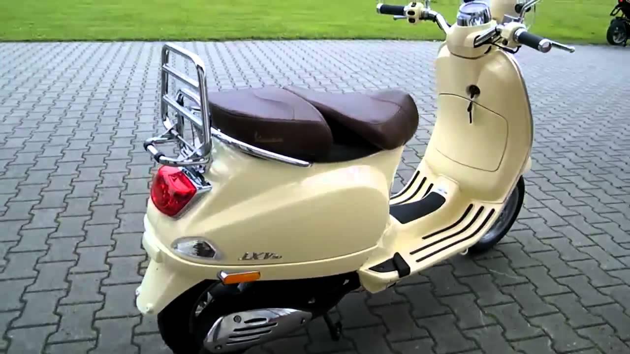 vespa lxv 50 11 roller scooter beige siena 2011 youtube. Black Bedroom Furniture Sets. Home Design Ideas