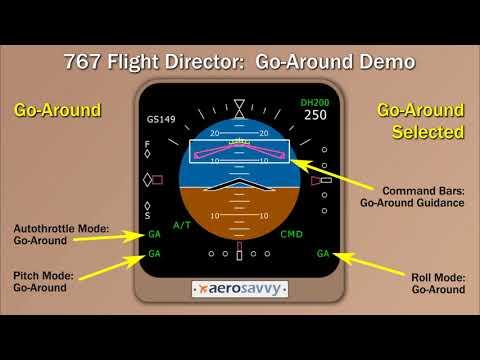 Go Around Demonstration: 757/767 Flight Director
