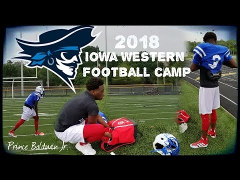 Iowa Western Community College Football Camp | Prince Baldwin Jr | Myhouse TV