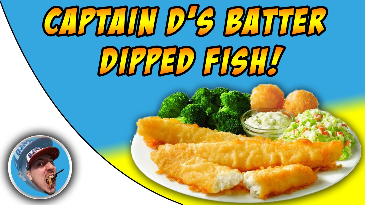 Captain d 39 s batter dipped fish food review youtube for How to make batter for fish