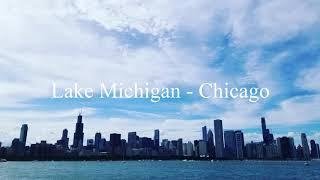 Lake Michigan - Chicago Ambience - 3D Audio ASMR, 1 hour | 공부 집중력 높여주는 백색소음