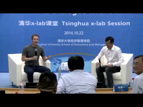 Mark Zuckerberg makes a public speak in Mandrin in China
