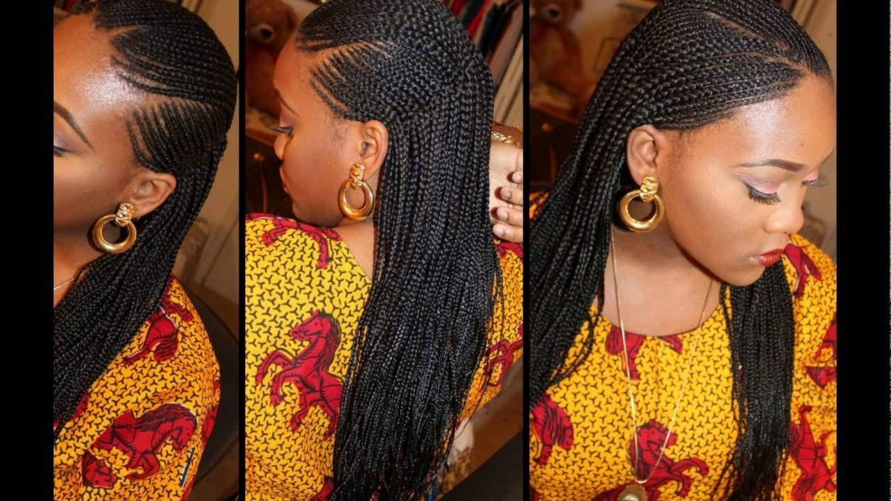Ghana Braids Hairstyles For Black Women Natural Hair Styles Youtube